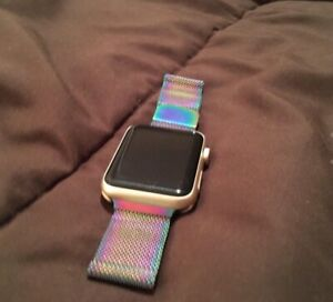 Multi colour Milanese Loop Apple Watch Band