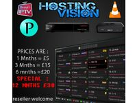 12 Mnths IPTV || 100% || RELIABLE || TESTS