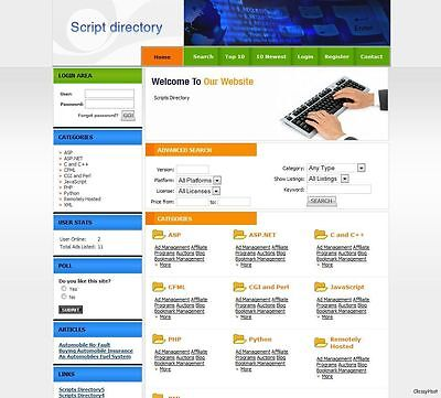 Scripts Software Directory Website Google Adsense. Make Money From Home.