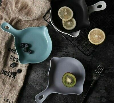 Solid Matte (Solid Ceramic Matte Plate Top Quality Simple And creative Plates With Handle New)