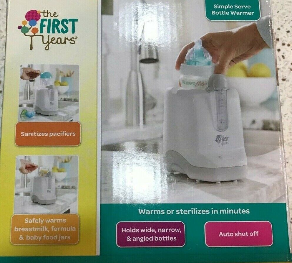 First Years 2in1 Simple Serve Bottle Warmer Holds Wide Narro