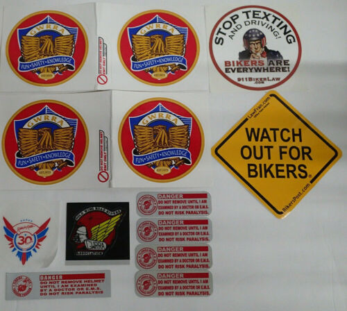 Gold Wing Motorcycle Decals GWRRA Lot