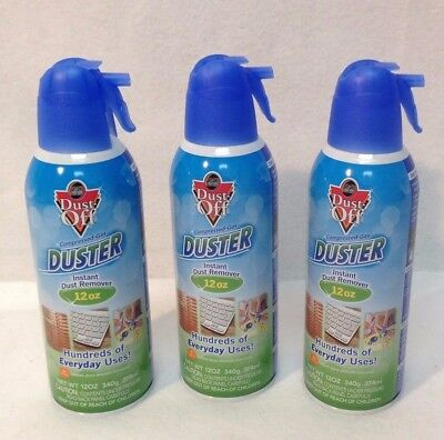 New Three ( 3 ) Pack 12 OZ (340g) Cans FALCON DUST OFF COMPRESSED GAS AIR DUSTER