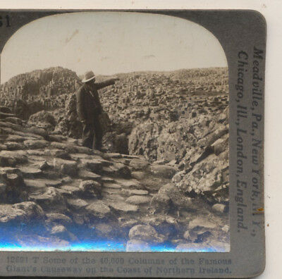 Giants Causeway County Antrim 40 000 Columns Ireland Keystone Stereoview C1900