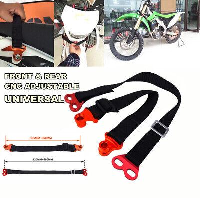 2Pcs CNC Adjustable Fornt+Rear Motocycle Rescue Pull Bundle Belt SafetyTow Strip