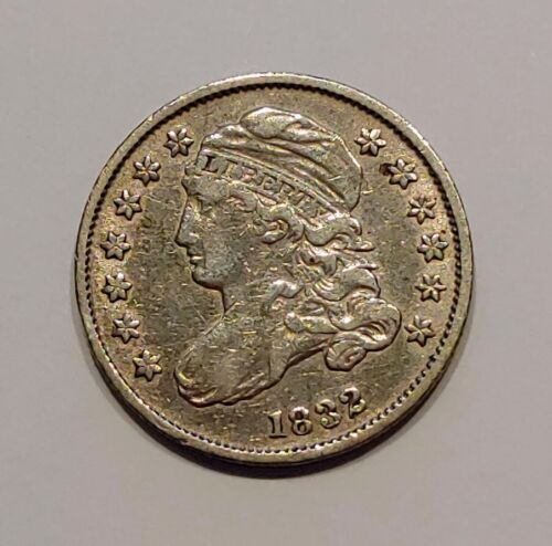VF/XF 1832 Capped Bust Dime, Early Silver Type Coin - C8459A