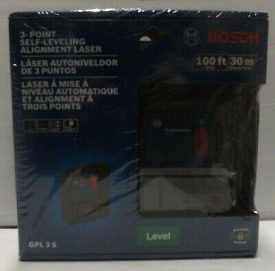 Bosch Gpl 3 S Three-point Self-leveling Alignment Laser Brand New