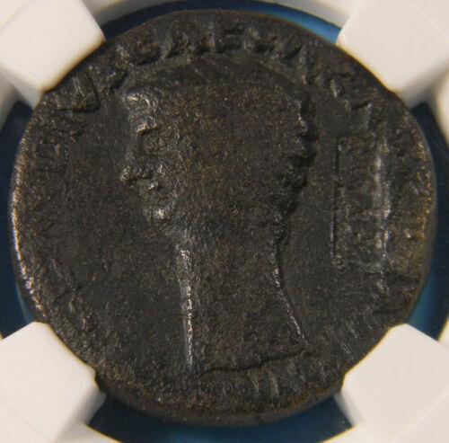 Roman AD 41-54 Dupondius Claudius NCAPR countermark NGC F