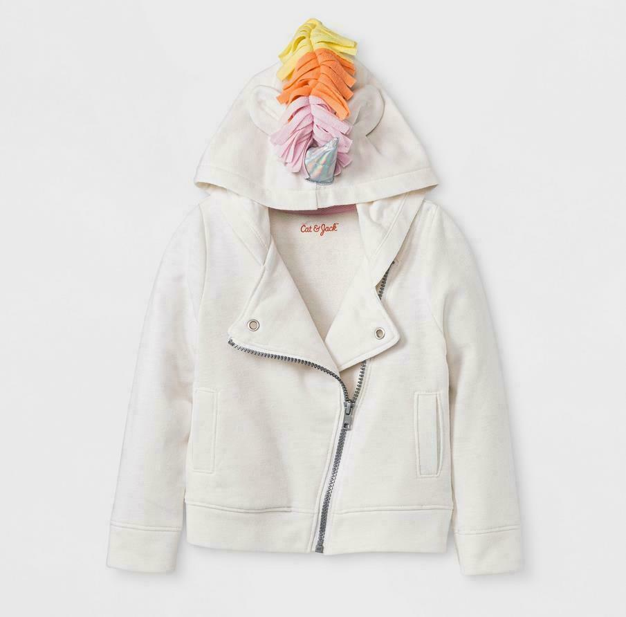 Toddler Girls' Unicorn Sweatshirt – Cat & Jack Almond Cream 18M Baby