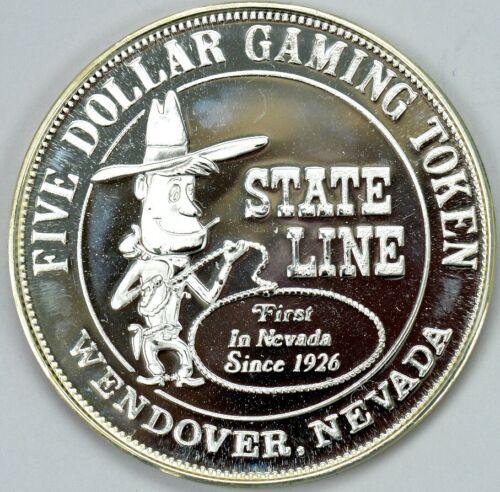 $5 Staleline Casino Wendover Nevada gaming token  RARE!!  utah -salt lake
