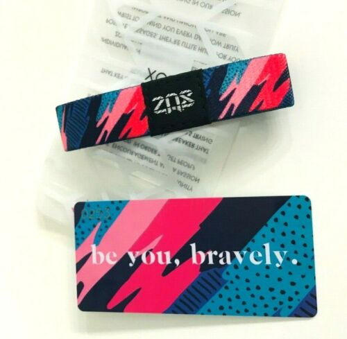 ZOX **BE YOU BRAVELY** Silver Single med NIP Wristband w/Card