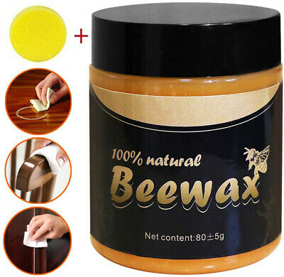Natural Wood Seasoning Beeswax For Polish Furniture Cleaning with sponge