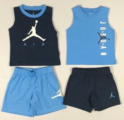 Infant Baby Boy's Nike Jordan Basketball 2 Piece Tank Top and Shorts Outfit Set