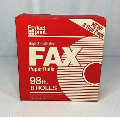 Perfect Print High Sensitivity Fax Paper Rolls