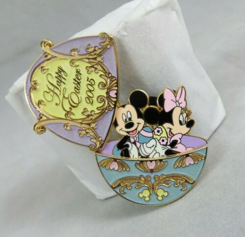 Disney Pin - NYC World of Disney - Happy Easter 2005 - Mickey and Minnie Mouse