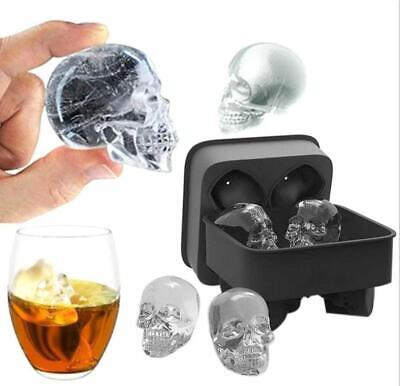 Ice Cube Tray Halloween Party Mold Silicone Whiskey 3D Skull Mould Bar Party - Halloween Block Party