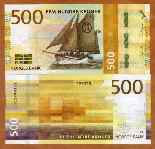 Norway, 500 Kroner, 2018, P-56, UNC > Redesigned