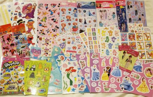 Girl s Licensed Character 47 Sheet All Sorts Of Scrapbooking Stickers Lot - $9.99