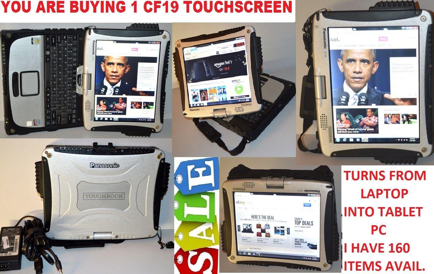 Panasonic Toughbook CF-19 Rugged Laptop tablet 1.2Ghz 3Gb,500GB MK3 /*WIN7 PRO**