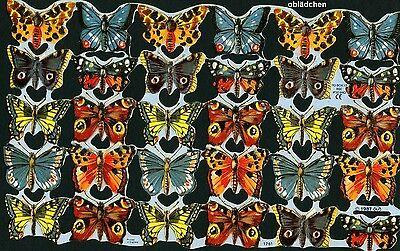 # GLANZBILDER # MLP 1761, Bogen mit 30 süßen Schmetterlingen von 1987