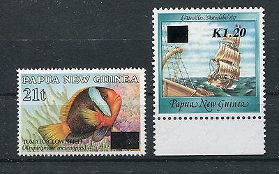 Papua Neuguinea 706/07 postfrisch / Freimarken ...........................1/2893
