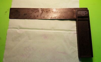 "Vintage Stanley Lead Filled 8"" Square-Trauts Patent ?.Not Many For Sale-Rare-"