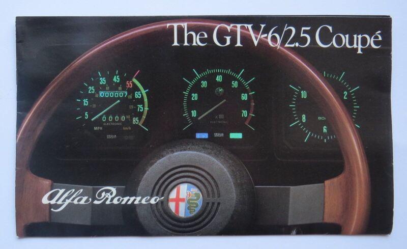1983 Alfa Romeo GTV6 2.5 Coupe Brochure Vintage Original