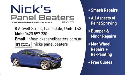 PANEL BEATING, PANEL BEATER, SMASH REPAIRS,  SMALL REPAIRS