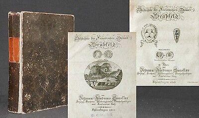 Geschichte des fränkischen Gaues Grabfeld 1802 2 Teile in 1 SELTEN