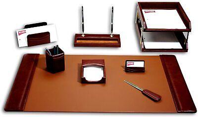 Dacasso Leather Desk Set 10-piece Mocha D3020 New