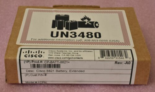 Lot of 4 - NEW Cisco 8821 OEM Battery / CP-BATT-8821