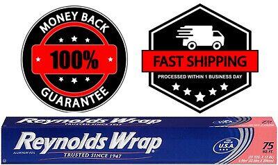 Reynolds Wrap Standard Aluminum Foil 75 Square Ft Foil Paper Tapes Rolls Kitchen