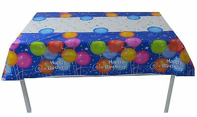 Plastic Table Cover For Party Birthday Decor w/Coloured Balloons 54x84 (Plastic For Table Covering)