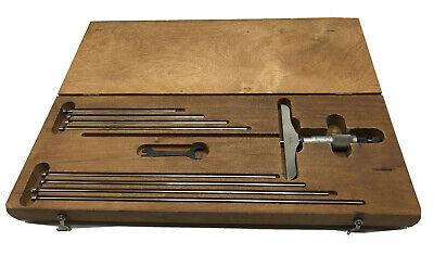 Starrett No. 445 Depth Micrometer 4 Base With Case
