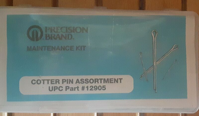 Precision Brand Cotter Pin Assortment UPC Part # 12905. Unopened Factory Package