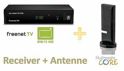 Sky Vision DVB-T2 / freenet TV Receiver 150 T HD + Philips Zimmerantenne HDTV