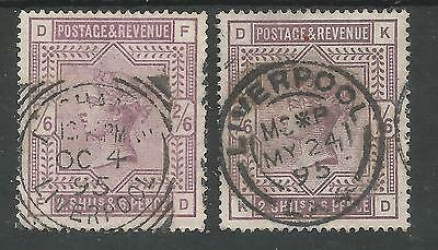 SG178-9,THE 1883-4 (FD&KD) QV 2/6d LILAC BOTH SHADES WITH LIVERPOOL CDS CAT (Sunglasses Liverpool)