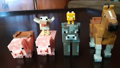 Minecraft animal toys action figures lot of 6