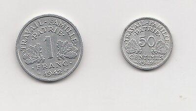 1  Franc und 50 centimes  Frankreich 1942 ( 1493)