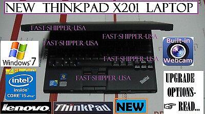 "☛NEW☛ Lenovo x201 THINKPAD business laptop 12.1"" core i5 2.4GHz ➨OPTIONS- READ!"
