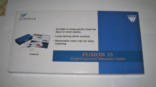 NEW Mijello Martin Weber Fusion 33 Airtight Leak-Proof33 Well Watercolor Palette