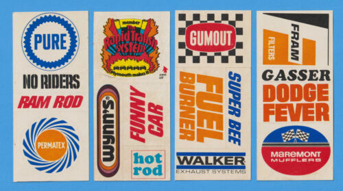Lot of 4 MOPAR Plymouth Dodge Stickers c 1969