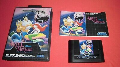 Megadrive 1 & 2 Disney's Ariel the Little Mermaid  [PAL] Sega *JRF*