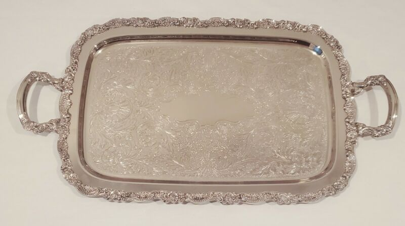 Vintage Oneida Silver Plate Serving Tray (LARGE)