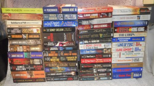 Military Government Espionage Fiction Paperback Book Lot x 95 by Various Authors