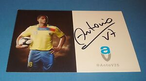 ANTONIO-VALENCIA-GENUINE-HAND-SIGNED-AUTOGRAPH-6x4-CLUB-CARD-ECUADOR-MAN-UTD