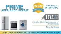 Fridge Stove Washer Dryer Dishwasher Repair & Installed