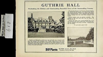 1922 Guthrie Hall Fish & Marvin House For Sale Vintage Print Ad 6560