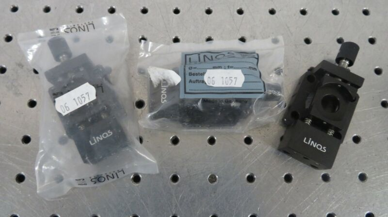 C178090 Lot 3 Linos Photonics 06 1057 Linear Micro Positioning Lens Mounts