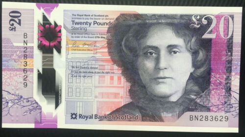 The Royal Bank of Scotland 20 Pounds 2019 UNC NEW